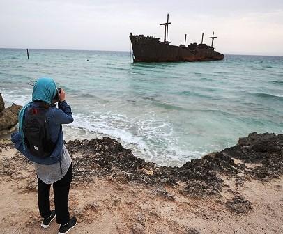 جوان ترین گردشگر جهان که به جزیره کیش سفر کرد